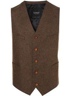 vintage 1950s vest // mens 50s brown wool vest // by FoxAndSeagull ...