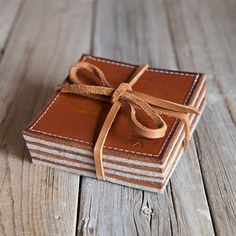 stitch and hammer leather coasters