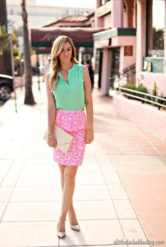 Caitlin from A Little Dash of Darling in Lilly Pulitzer Spring '13- Thyme Skirt