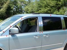 TOWN & COUNTRY VAN 2008-2015 CHRYSLER (16 pieces: Window Package) WP48895