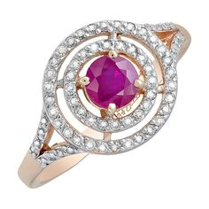 Кольцо с бриллиантом и рубином mg_119139