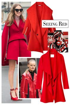 Nothing makes a statement like a lipstick-red coat. Go for sleek or voluminous versions, and add graphic black-and-white pieces to break up a monochromatic look.
