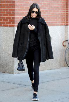November 08, 2015 - Leaving Kimye's apartament in New York.