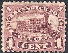 Sobre Filatelia y Ferrocarriles: El primer tren en un sello postal.