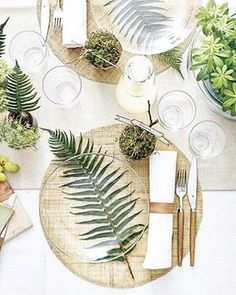 I • D O ...love everything about this table setting that I stumbled across whilst sifting through inspo and collecting styling ideas for an upcoming wedding I am working on. I can't fault the fresh white base, clear glass plate over the green fern and touches of warmth through the timber accents. If anyone knows who created this masterpiece please do let me know so I can credit them and give them a high five!
