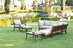 Madera Collection Deep Seating from Brown Jordan. #OutdoorFurniture #Florida #WestPalm #Patio #Furniture