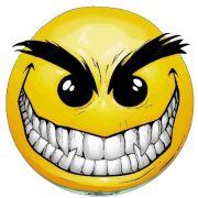 evil smiley sticker