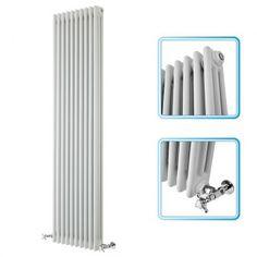 1800mm x 473mm - White Upright Triple Column Traditional Radiator - £211, projection 120 9163 btu