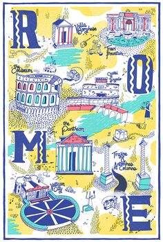 Rome | Illustrated Maps! on Behance