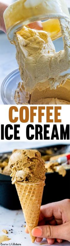 Aquafaba Dairy-Free Coffee Ice Cream | Ceara's Kitchen