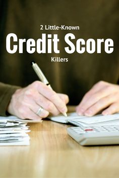 A look at two factors that could negatively impact your credit score, which we are calling credit score killers. Boost Credit Score, Free Credit Score, Fix Your Credit, Improve Your Credit Score, Grants For College, Financial Aid For College, Scholarships For College, Financial Success, Financial Planning