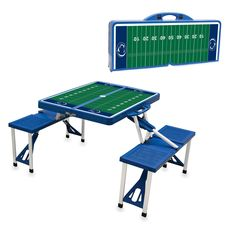 Penn State Nittany Lions Blue Portable Picnic Table Sport