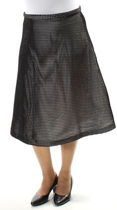 baa3fa568 Calvin Klein White Mesh A-line Skirt 10 for sale online