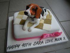 Puppy Birthday Cakes, Dog Birthday, 3d Dog, Animal Cakes, Dog Cakes, Fondant Toppers, Beagle Dog, Specialty Cakes, Creative Cakes
