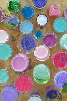 kids love mixing potions and making a beautiful mess ~ let them also name their concoctions and you will be amazed by their creativity!