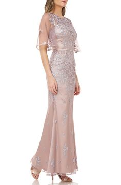 Evening Gowns With Sleeves, Cocktail Dresses With Sleeves, Trumpet Gown, Blue Dresses, Formal Dresses, Mother Of Groom Dresses, Mermaid Gown, Nordstrom Dresses, Fashion Outfits