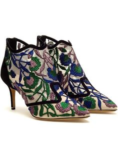 NICHOLAS KIRKWOOD 'Belle epoque' embroidered mesh boots