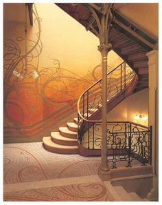 Secession - staircases, Vienna...architect Victor Horta
