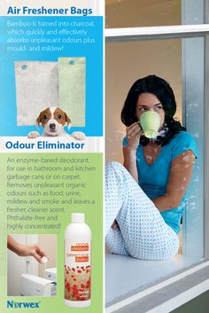 Air Freshener Bags ~Bamboo charcoal absorbs odours, bacteria, harmful pollutants and allergens naturally. • Dehumidifies air.  Odour Eliminator ~Use in toilets, washrooms, litter boxes, garbage cans, kitchens, bathrooms, etc.
