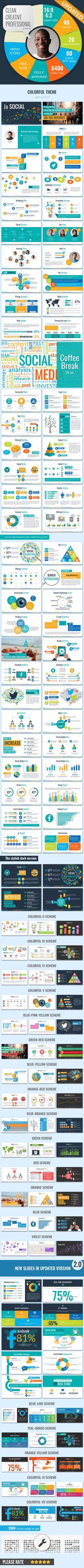Social Media Ja PowerPoint Presentation Template — Powerpoint PPTX #creative #Social Marketing • Available here → https://graphicriver.net/item/social-media-ja-powerpoint-presentation-template/9274859?ref=pxcr