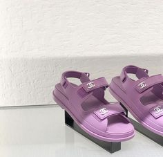 Image about aesthetic in Chanel by 🍸🦪 on We Heart It Dr Shoes, Me Too Shoes, Baby Shoes, Shoes Sneakers, Lavender Aesthetic, Purple Aesthetic, Funky Shoes, Cute Shoes, Pastel Purple