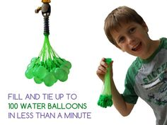 Fill and tie hundreds of water balloons in minutes with our attachment that comes ready-to-go, no preparation necessary!