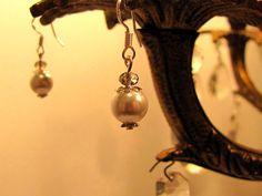 Boucle d'oreille perle et swarovski de la boutique  #leelooart #boutiqueleelooart #bestofetsy