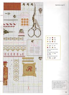 Cross-stitch Sewing Things, part 2... with the color chart... Gallery.ru / Фото #52 - 980 - Yra3raza