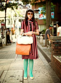 60s fashion This looks almost familiar, thinking of Ugly Betty T.V. show? She's cute.