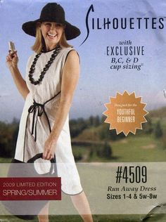 Peggy Sagers Silhouettes Pattern 4509 ~ Run Away Front Tie Dress