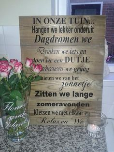 Tuinbord, weerbestendig.. www.facebook.nl/lisetteshobbyborduren