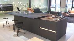Siemens, showroom. Hoofddorp, The Netherlands. Architect: DDOCK, Amsterdam.Made of FENIX NTM, Nero Ingo.