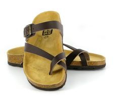 Vegetarians Shoes UK - Toe Strap Sandal Brown #vegan #birkenstock