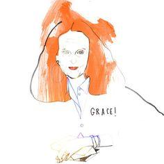 GRACE! #illustration #drawing #instaart #sketch #fashion #gracecoddington | Use Instagram online! Websta is the Best Instagram Web Viewer!