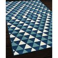 Indoor/ Outdoor Blue Kaleidoscope Rug (1'8 x 3'7) | Overstock.com Shopping - The Best Deals on Accent Rugs