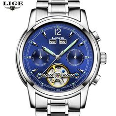 US $50.99 - Relojes Hombre LIGE Luxury Brand Mens Automatic mechanical Watches Men Casual fashion business Clock Watch men Relogio Masculino