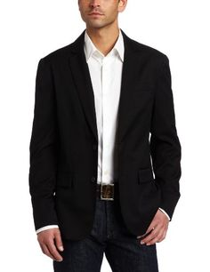Kenneth Cole Men's Two Button Solid Blazer