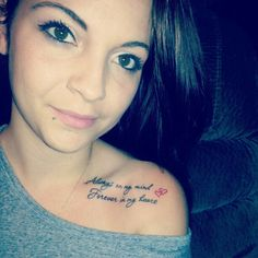 Always on my mind Forever in my heart. I dearly love this phrase! :) It is super cute with the hearts too!