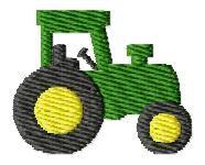 Tractor Mini Embroidery Design