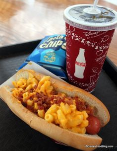Review: Fairfax Fare and the Macaroni & Cheese and Truffle Oil (and Bacon) Hot Dog | the disney food blog