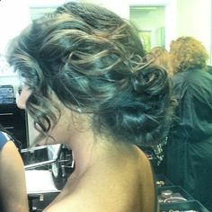 Prom updo hairstyle.