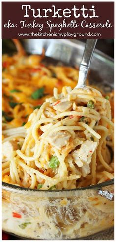 Turketti (Leftover Turkey Spaghetti Casserole)