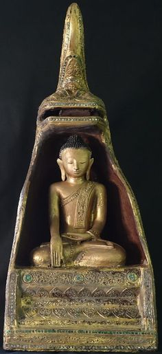 Burmese Hollow Lacquer Buddha Statue Under Naga Kwan Yin / Buddha️ :More At FOSTERGINGER At Pinterest