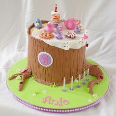Forest Tea Party Cake