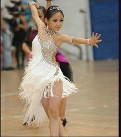 Trendy Ideas For Dress Dance Latin Cha Cha Dance Costumes Kids, Ballroom Costumes, Samba Dance, Tango Dance, Contemporary Dance Costumes, Latin Ballroom Dresses, Ballroom Dancing, Salsa Dress, Fringe Dress
