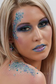 Mermaid costume makeup