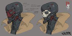 ArtStation - SkullFace, by Ching Yeh Character Concept, Character Art, Concept Art, Character Design, Dark Fantasy, Fantasy Art, Science Fiction, Art Cyberpunk, Design Ios
