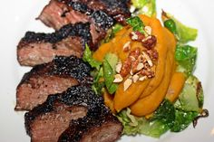 spicy nuts skirt steak skirts brussels sprout leaves steaks forwards ...