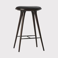 01002h - High Stool - Dark stained beechwood - 74 cm