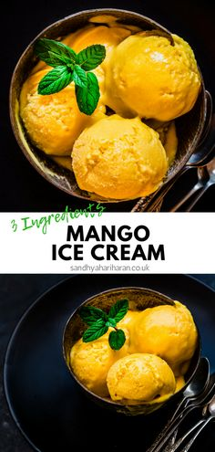 This easy Homemade Mango Ice cream just requires 3 ingredients and 10 Minutes of preparation. { No Ice cream maker required } This easy Homemade Mango Ice cream just requires 3 ingredients and 10 Minutes of preparation. { No Ice cream maker required } Homemade Mango Ice Cream, Fruit Ice Cream, Mango Cream, Mango Sorbet Recipe Ice Cream Maker, Paleo Ice Cream, Sorbet Ice Cream, Summer Ice Cream, Homemade Vanilla, Homemade Dog
